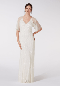 Debenhams Debut - Ivory embellished 'Joy' v-neck wedding dress