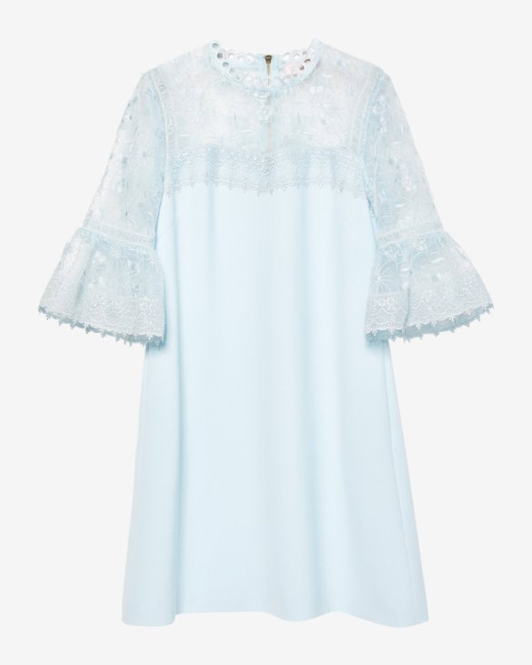 Ted Baker RAECHAL - Lace peplum dress Pale Blue
