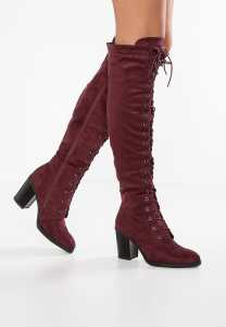 Anna Field - Over-the-knee-boots - bordo