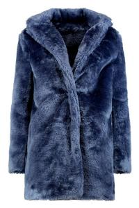 Boohoo Rebecca Collared Faux Fur Coat