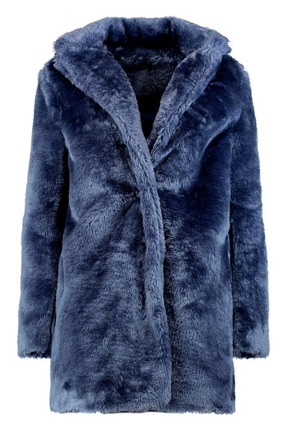 Boohoo Rebecca Collared Faux Fur Coat