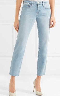 Net-a-Porter FRAME Le Boy cropped mid-rise straight-leg jeans - shop jeans