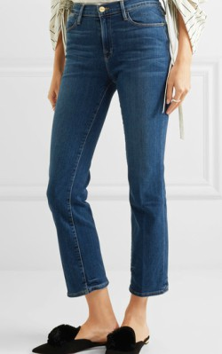 Net-a-Porter FRAME Le High Straight cropped jeans - shop jeans