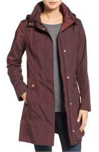 Nordstrom Back Bow Packable Hooded Raincoat