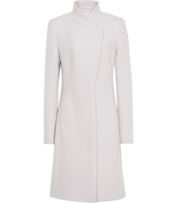 Reiss Lanston LONGLINE COAT CLOUD