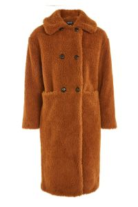 Topshop Teddy Double Breast Coat