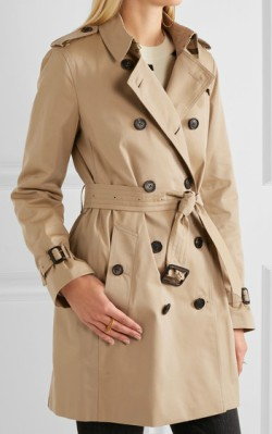 The top 3 trench coats - Net-a-Porter Burberry The Kensington Mid cotton-gabardine trench coat