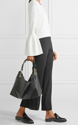 Net-a-Porter Karl Lagerfeld K/Slouchy leather tote - black handbag