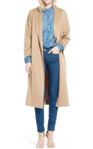 Nordstrom AYR 'The Robe' Camel Hair Maxi Coat - $585