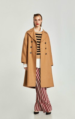 Zara LONG OVERSIZED COAT - £129 camel coat shop