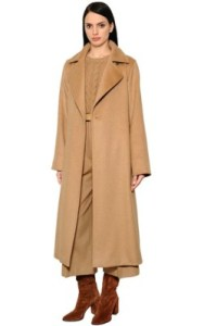 Luisaviaroma MAX MARA BRUSHED CAMEL COAT W/ BELT - £ 1305 shop