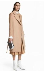 H&M Wool-blend Coat - $129 in camel