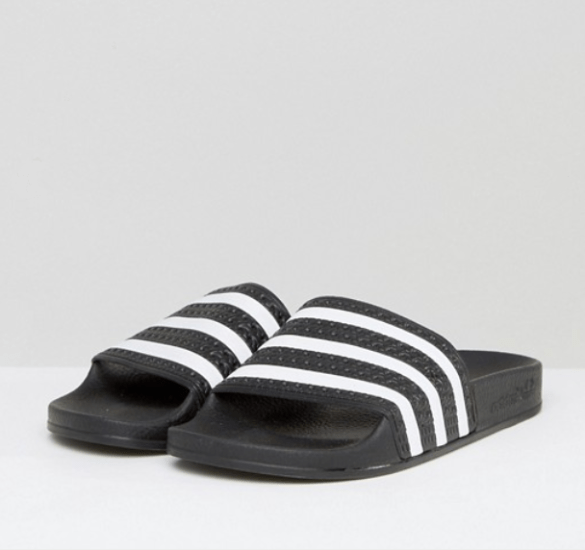 ASOS Adidas Originals Adilette Slider Sandals In Black