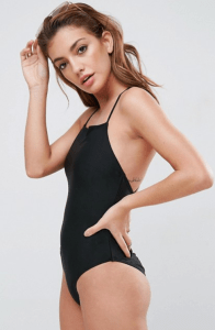 ASOS Square Neck Strap Back Swimsuit