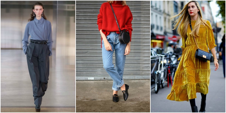 AW17 fashion trends red forties blue mustard yellow