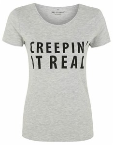 Asda - Creepin it Real grey Halloween tee
