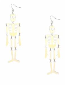 Claire's - Clear Drop Skeleton Earrings