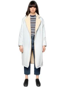 Luisaviaroma LEVI'S MADE & CRAFTED DENIM & FAUX SHEARLING COAT