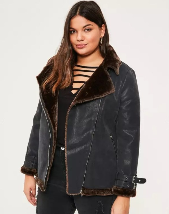 Missguided curve black contrast faux