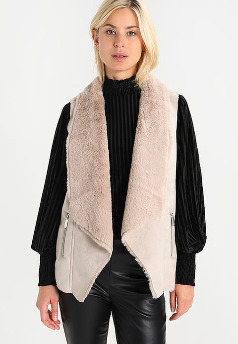 Zalando Dorothy Perkins SHEARLING - Waistcoat - light brown