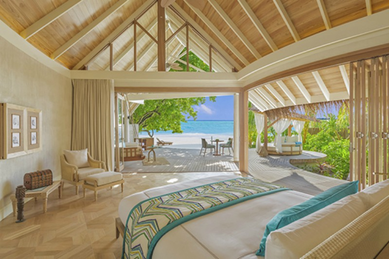 Milaidhoo beach pool villa interior shot