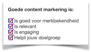 goede content marketing