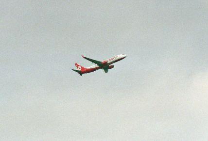 Air Berlin (einmalig statt Tailwind Airlines) startet am 04.05.2013 mit D-ABMJ von Kassel-Calden (KSF) nach Antalya (AYT). Die Maschine kam zuvor aus (RLG).