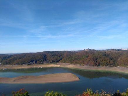 Im Oktober war der Edersee auch im Bereich Waldeck sehr leer