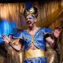 Genie of the Lamp in Aladdin Pantomime