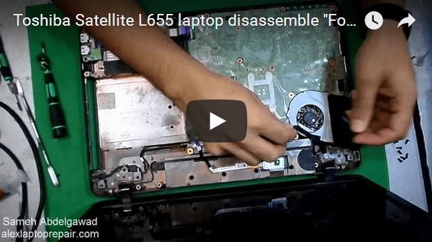 Toshiba Satellite L655 laptop disassemble