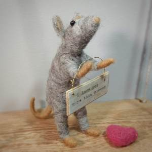 needle felted animals mouse