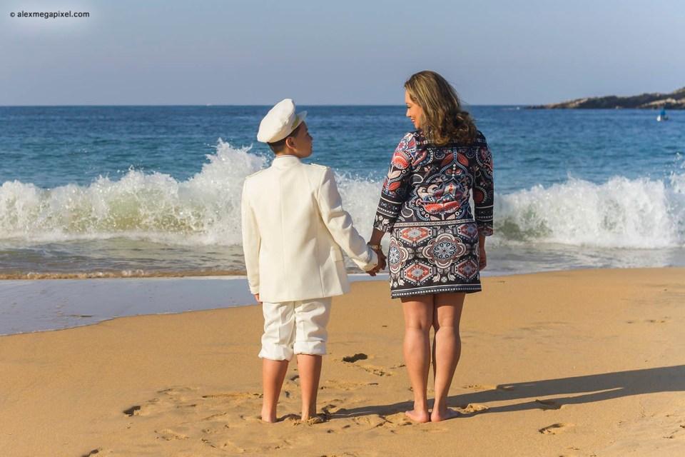comunión en la playa