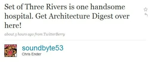 Three Rivers News Tweet