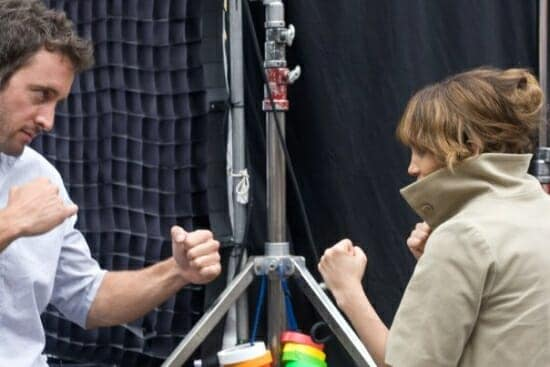 Alex O'Loughlin and JLo on the set of the The Back-Up Plan