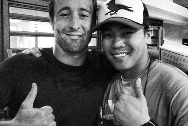 Alex on Set with Director Larry Teng