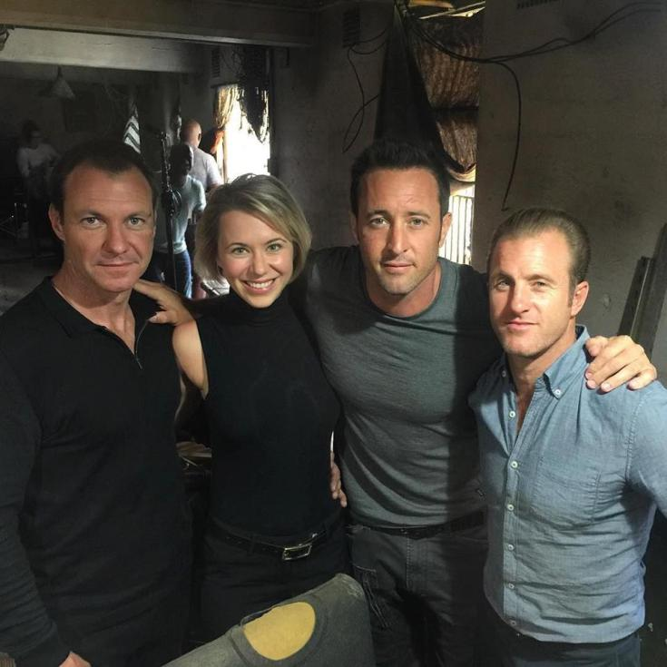 Julia Ubrankovics and Hawaii Five O cast