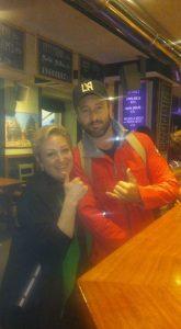 Alex O'loughlin and fan Vicky Pizarro