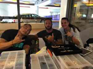 Alex O'loughlin and Enson Inoue at Hilton Hawaiian Village