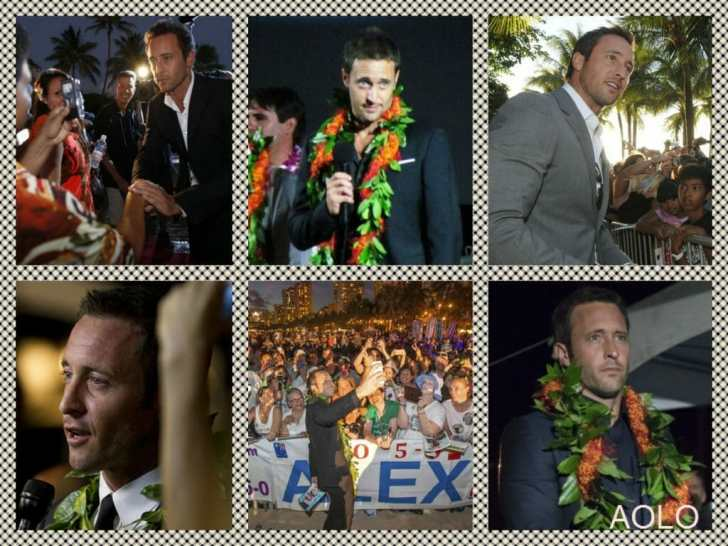 Sunset on the beach collage - alex o'loughlin