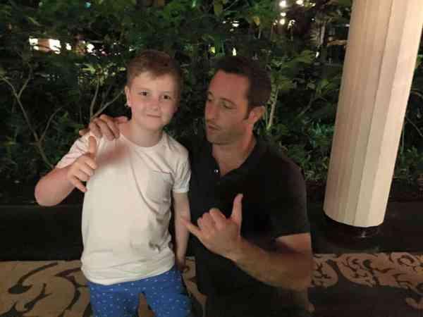 alex o'louglin with boy fan