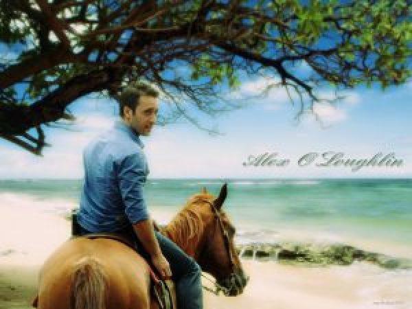 alex o'loughlin-on-beach-on-horse