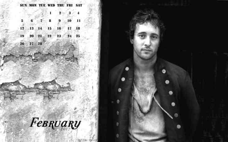 Alex O'loughlin Feb calendar
