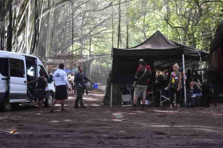 alex o'loughlin on location set