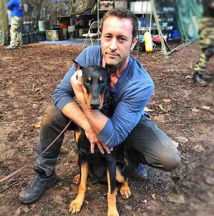 Alex O'Loughlin and dog