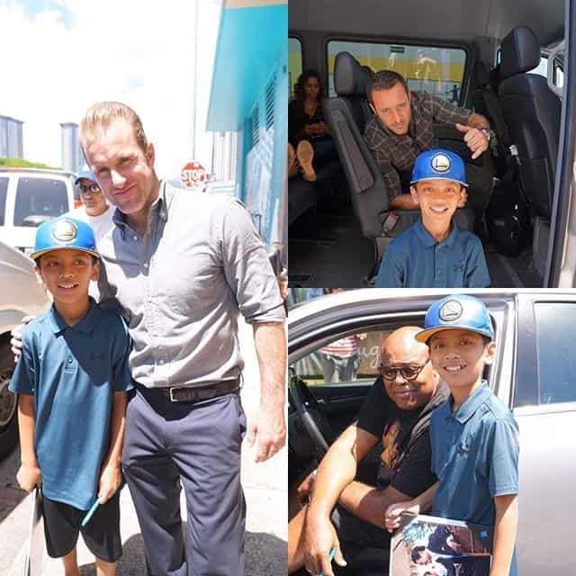 Alex O'Loughlin fan photo with young fan
