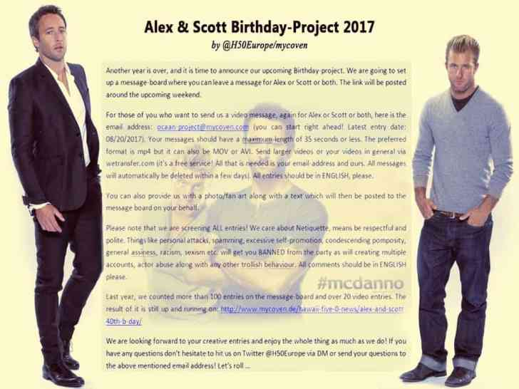 Birthday project for Alex and Scott