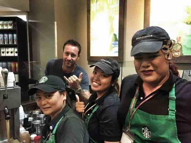 "Alex O""loughlin at Starbucks"