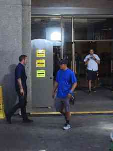 Alex O'Loughlin Behind the Scenes downtown