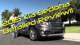 2015 Kia Sedona Detailed First Drive Review and Road Test