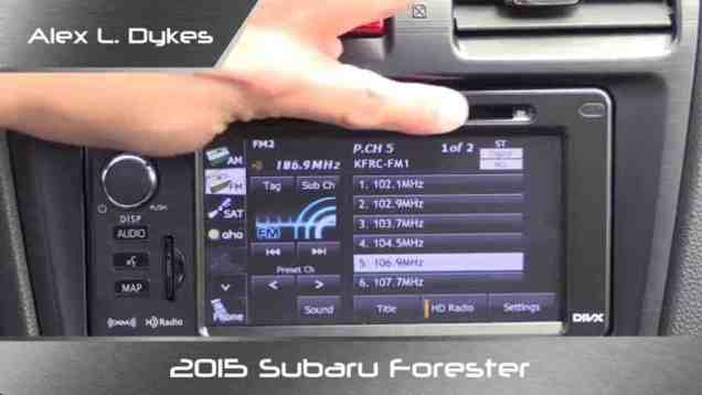 2015 Subaru Infotainment and Navgation System Review